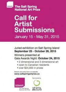 Call for Canadian Artist Submissions - The Salt Spring National Art Prize @ Mahon Hall | British Columbia | Canada