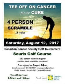 Tee Off on Cancer! Golf tournament @ Souris Golf Course