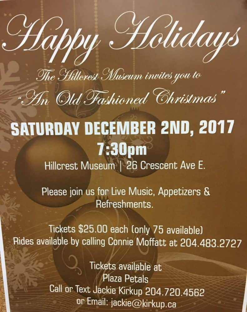 """Hillcrest Museum presents """"An Old Fashioned Christmas"""""""