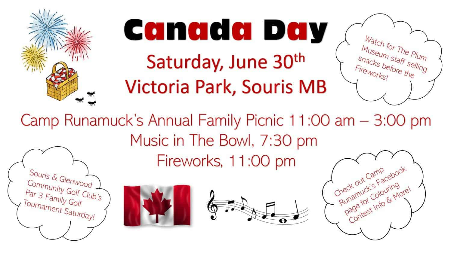 Canada Day Events @ Victoria Park | Souris | Manitoba | Canada