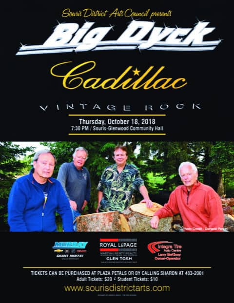 Big Dyck Cadillac - a concert brought to you by the Souris District Arts Council @ Souris Glenwood Community Hall | Souris | Manitoba | Canada