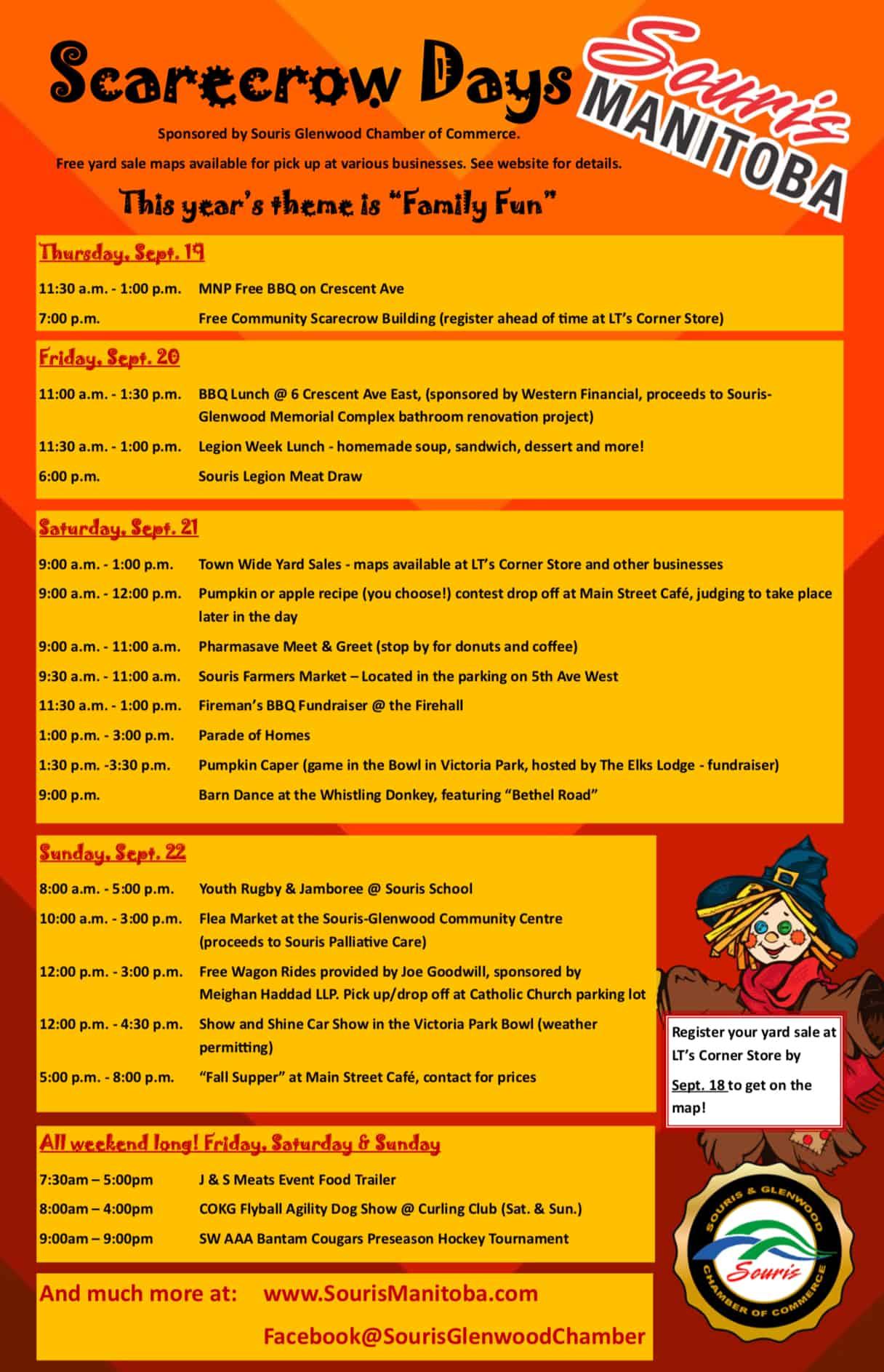 Souris Scarecrow Weekend @ Souris Scarecrow Weekend
