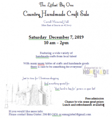 Country Homemade Craftsale @ Carroll Memorial Hall