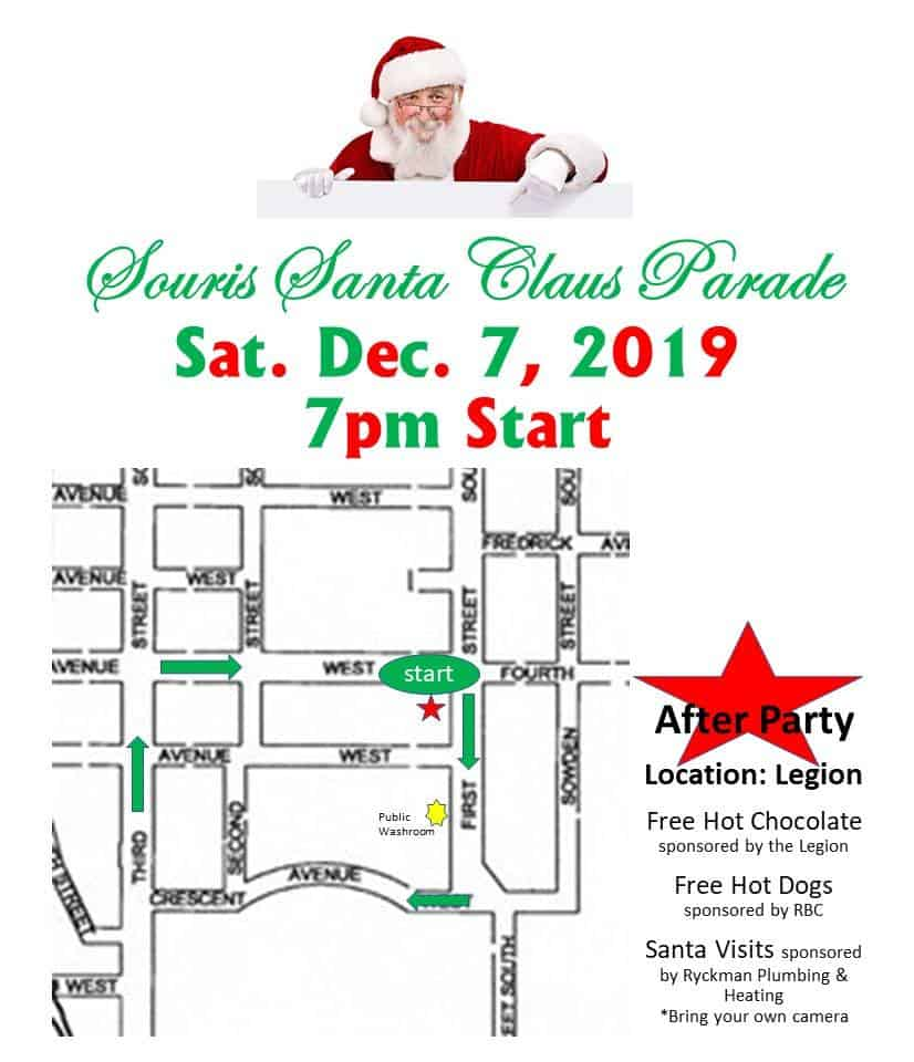 Santa Claus Parade @ Various locations around Souris